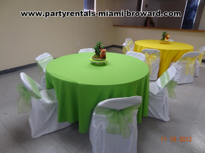 Tablecloth lime green for a baby shower