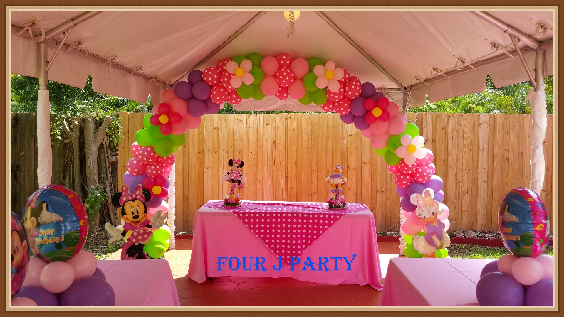 Minnie Mouse Arch Balloons