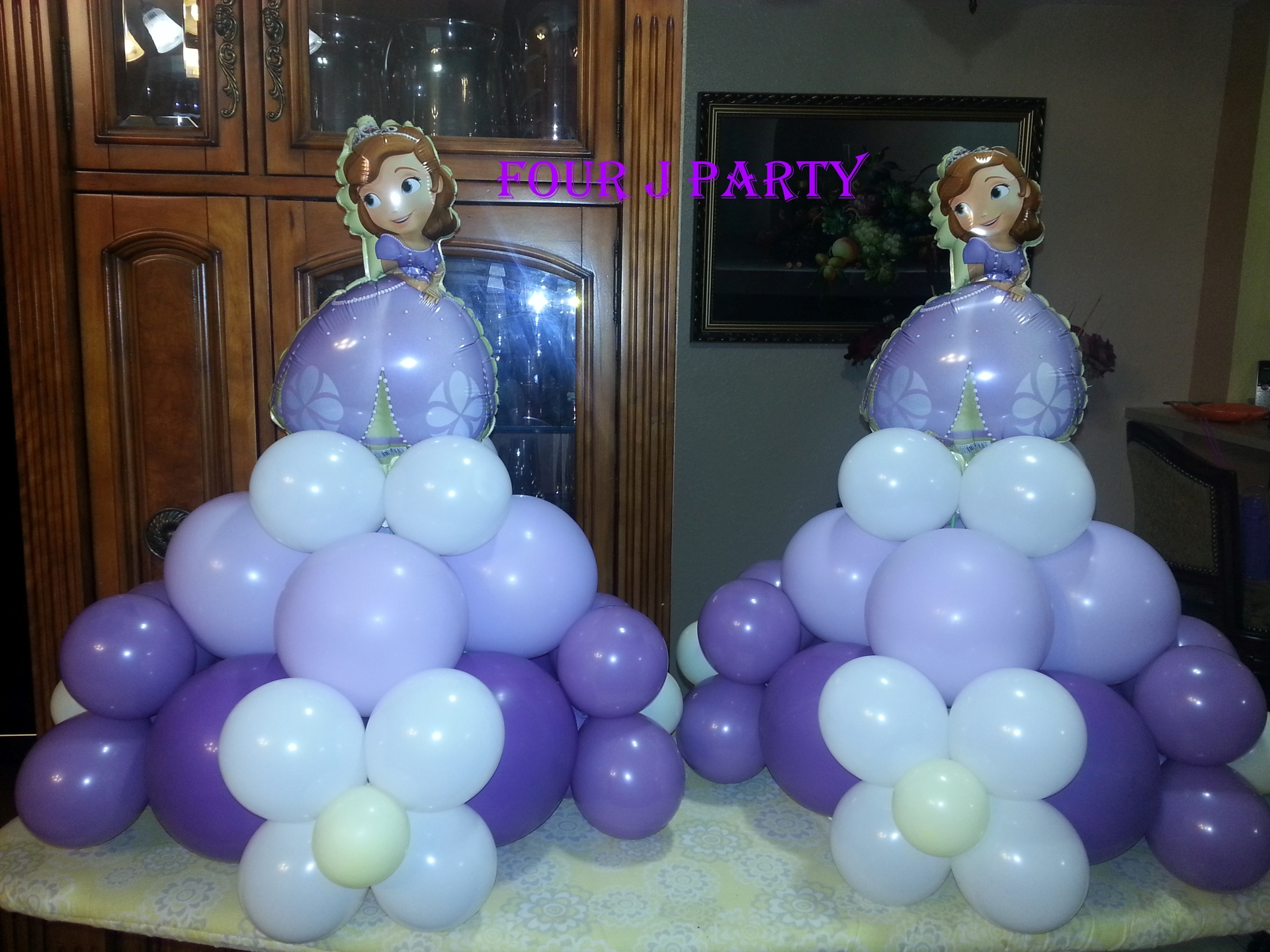 Center pieces sofia the first decoration