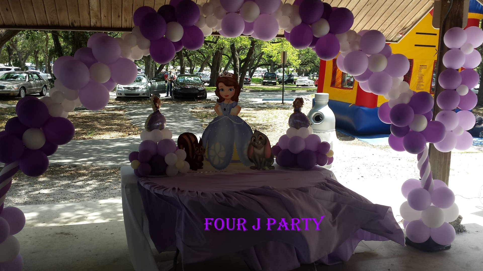 cake table sofia the first decoration