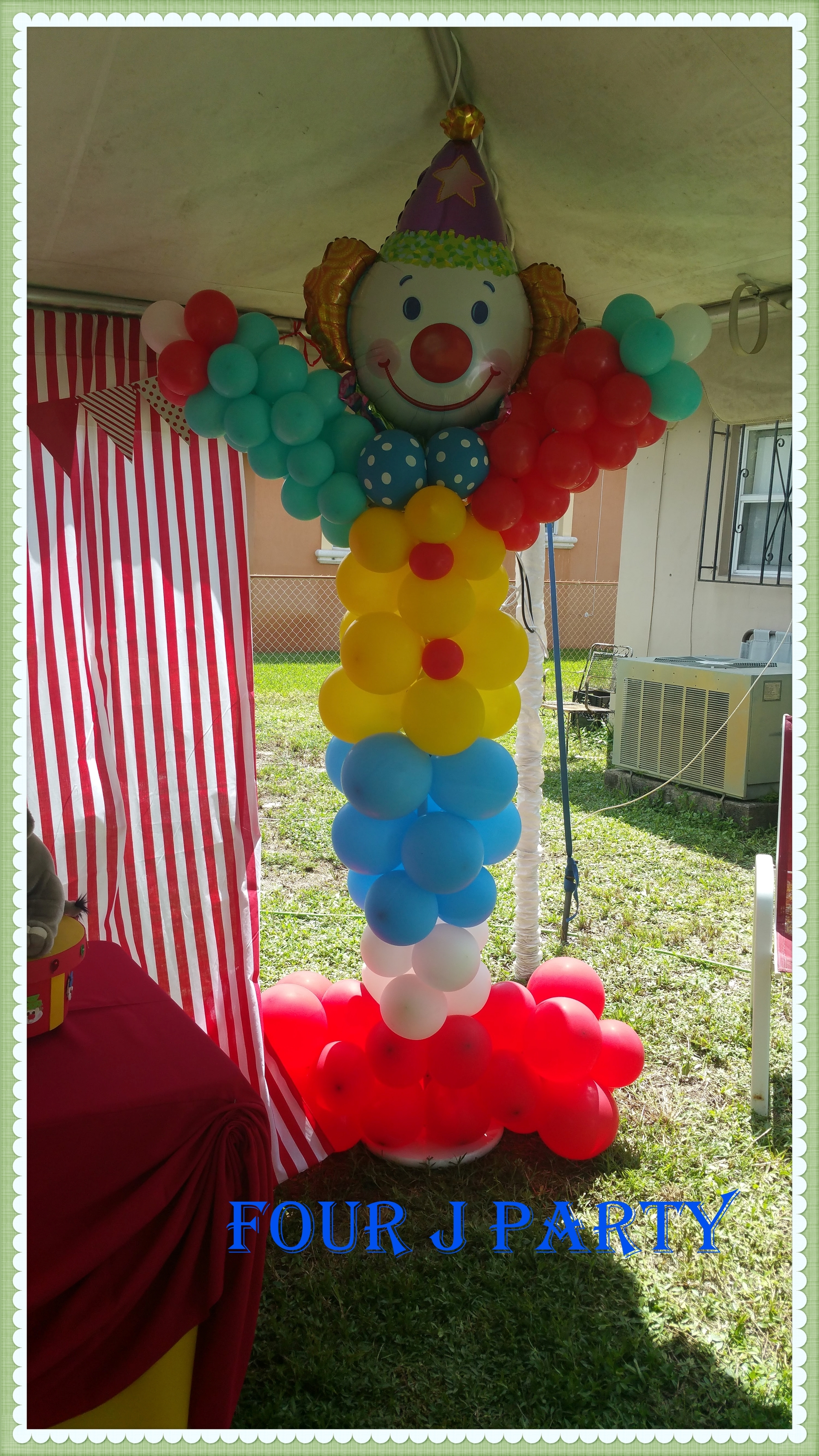 Circus party Rental Clown Balloons