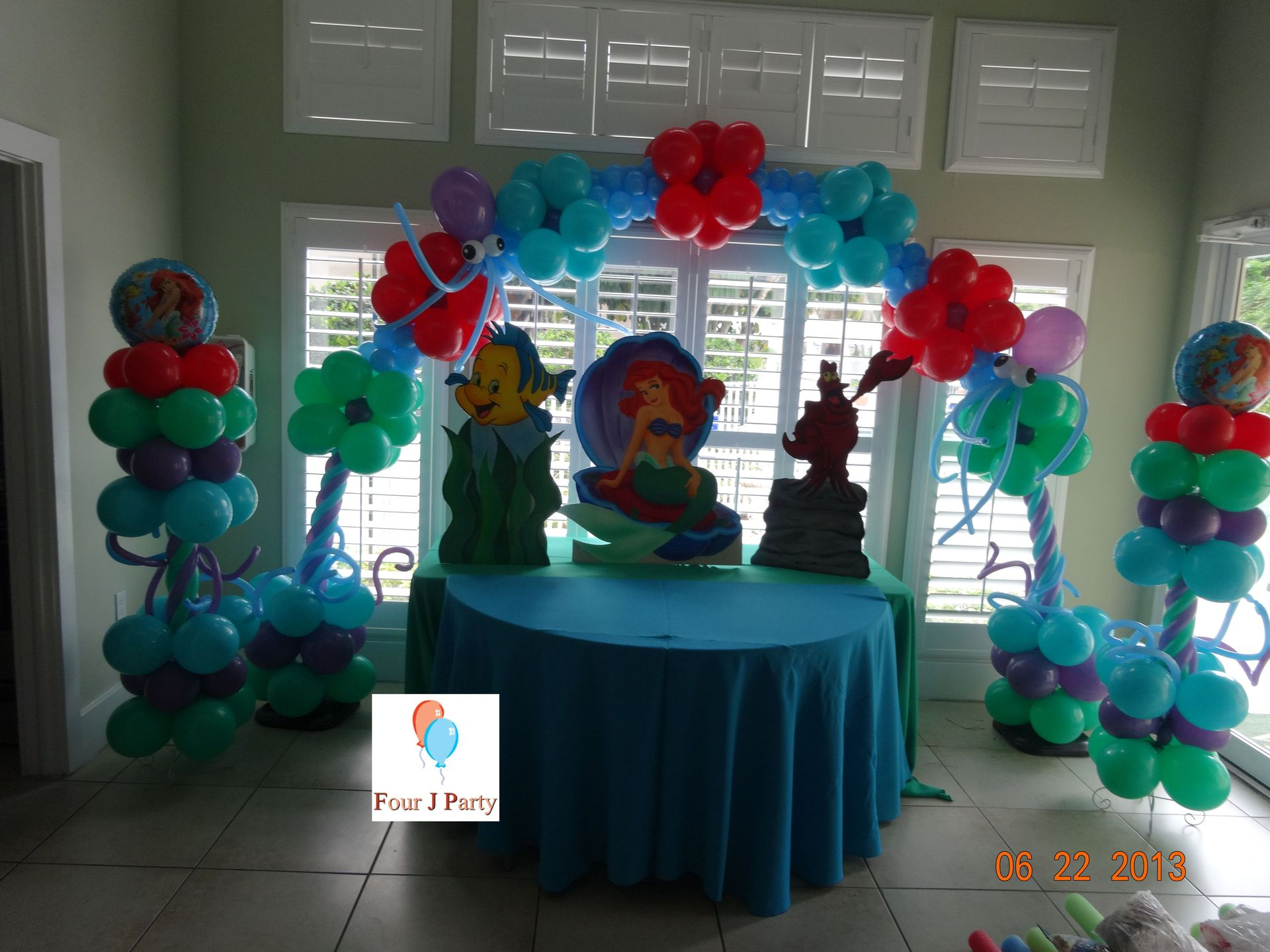 Party rental little mermaid ariel decoration for Ariel party decoration ideas