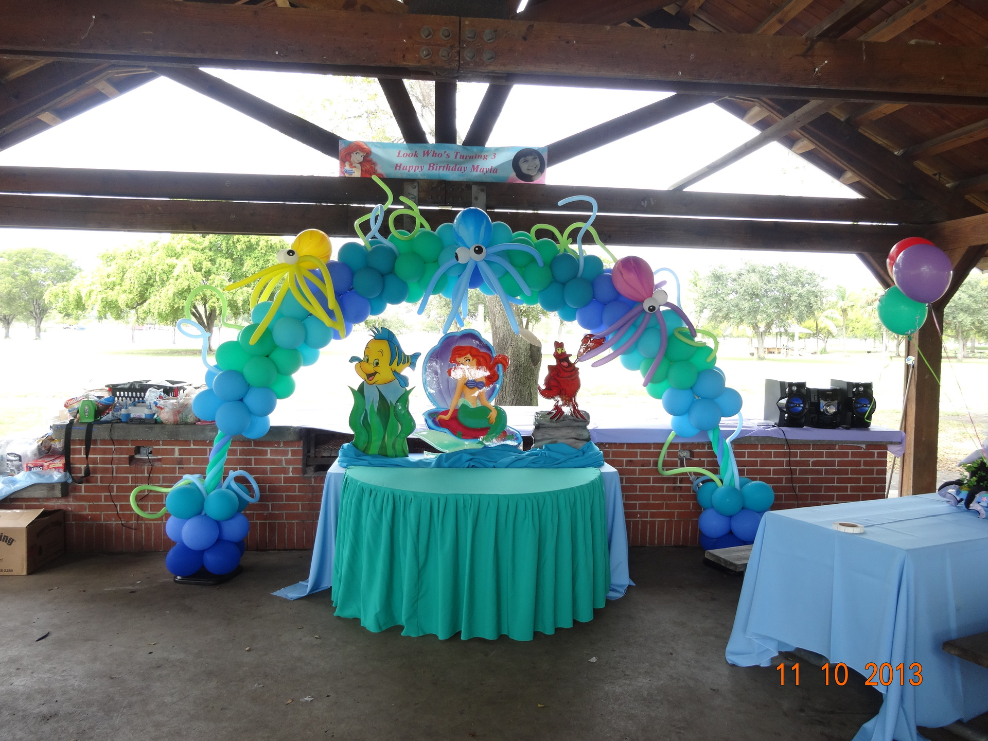 Party rental little mermaid ariel decoration for Ariel birthday decoration ideas