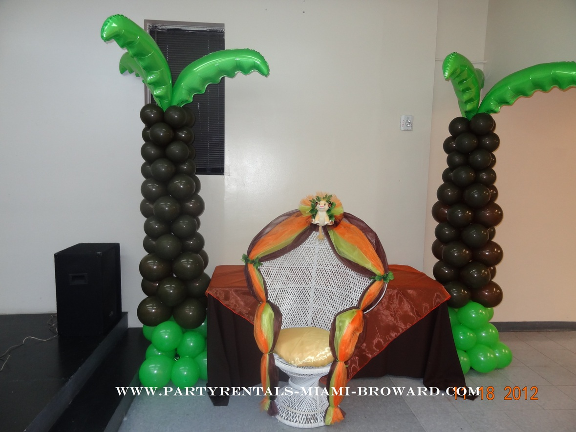 Balloons palms lion king baby shower