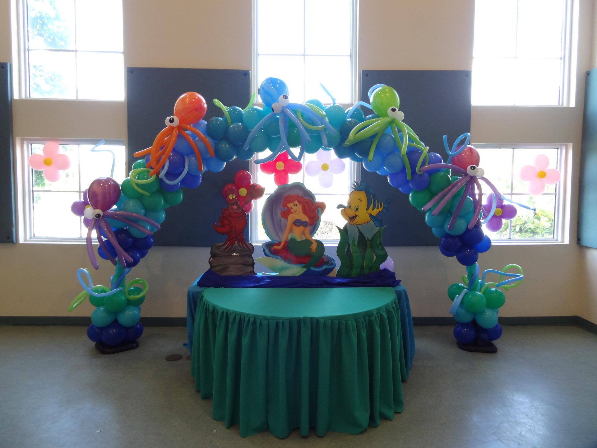 Party rental little mermaid ariel decoration for Ariel decoration ideas