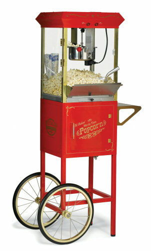 fashioned popcorn machine rental