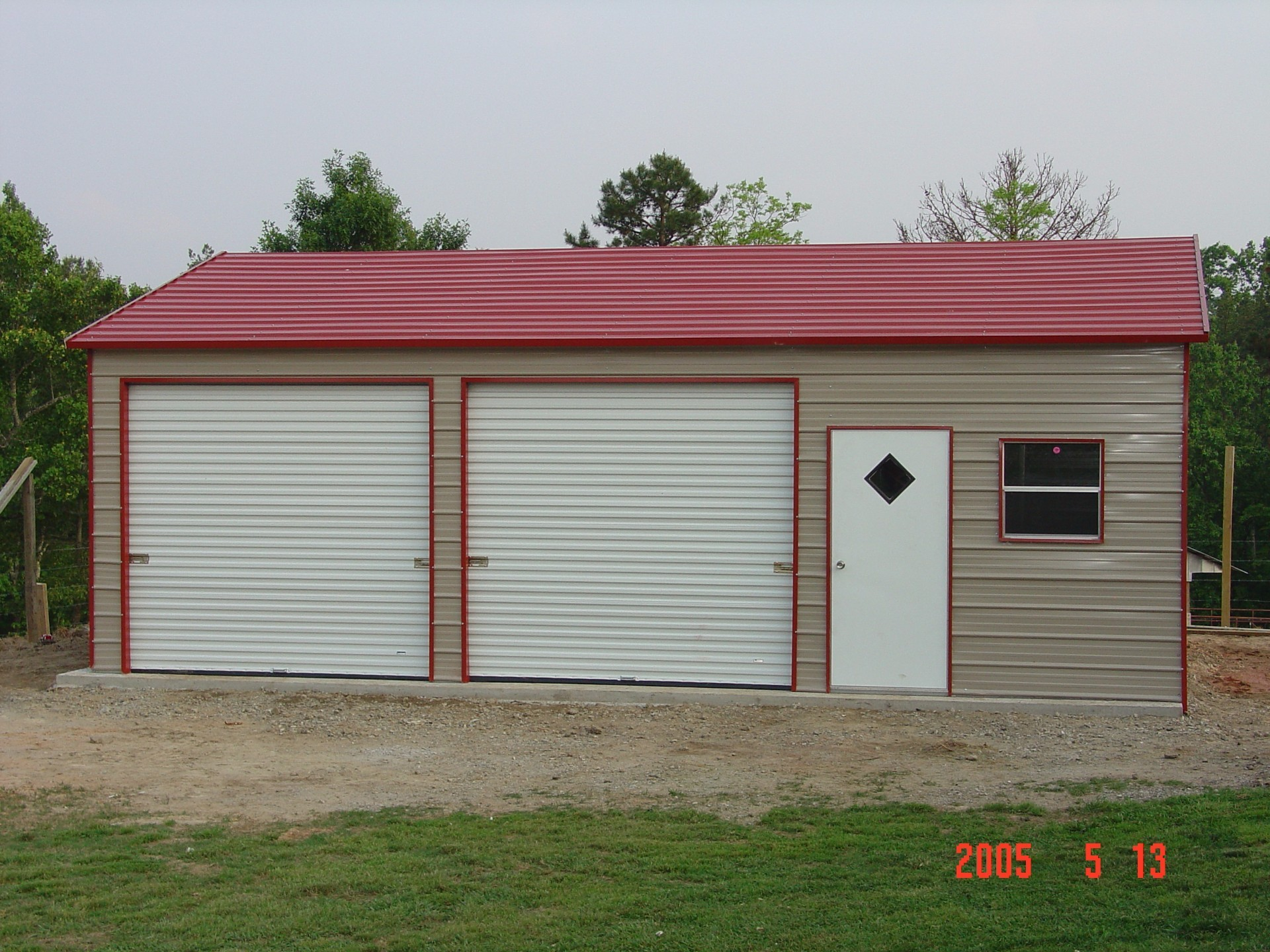 midwest frame garages garage a packages doors door o metal x with car horizontal