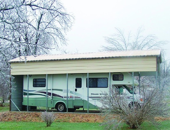 Missouri carports metal carports mo buy missouri carports for Rv covered parking structures
