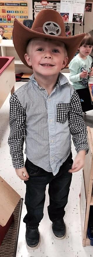 Samuel Lorenz age 4 cowboy