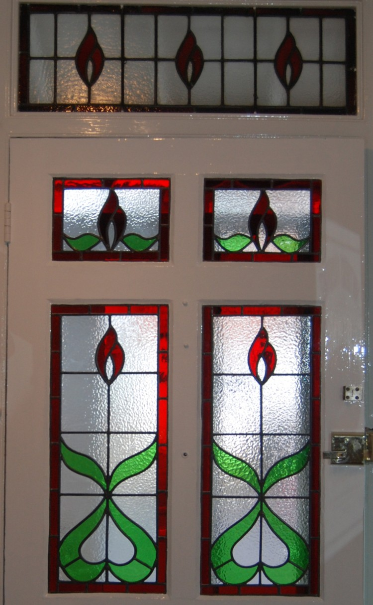 Door panels designed to compliment Transom