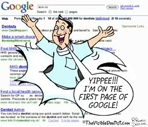 how to get listed on google first page