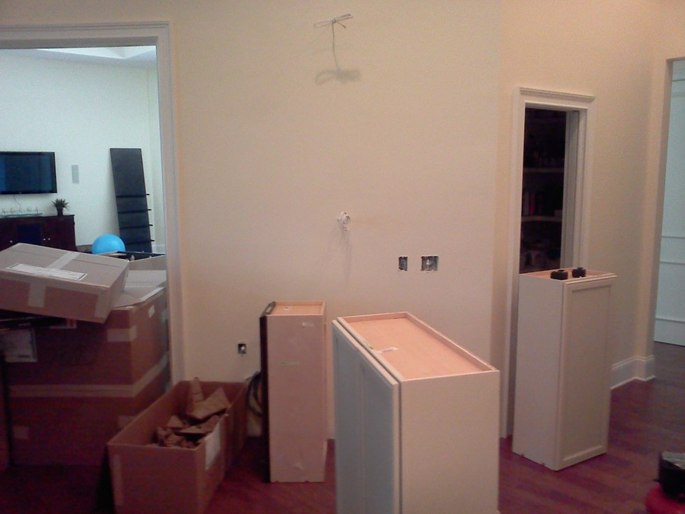 Remodeling Process, getting rid of old cabinets