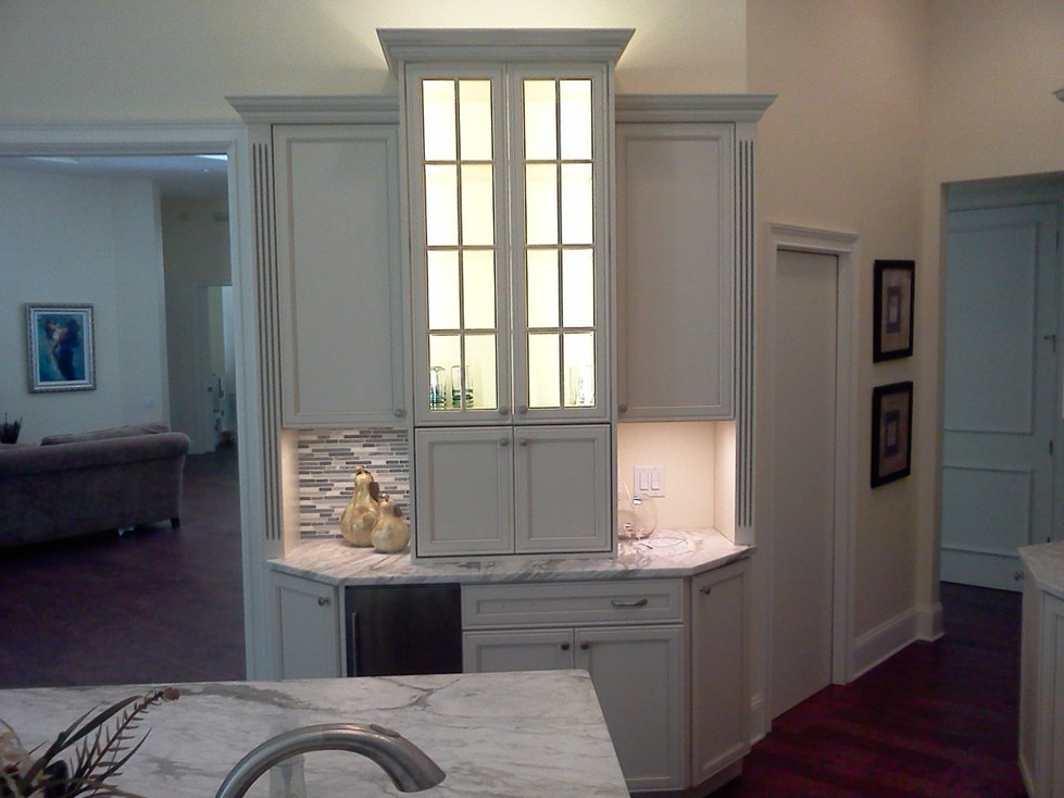 New white cabinet with underlighting