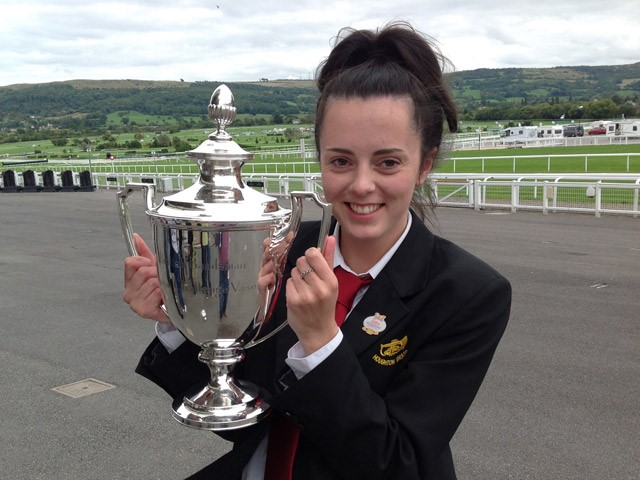 Kelly with Trophy Cheltenham 2015