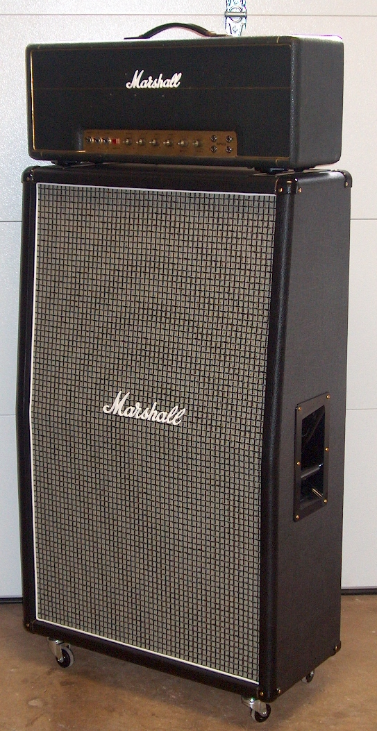 front view of completed restoration proper tolex grille cloth and