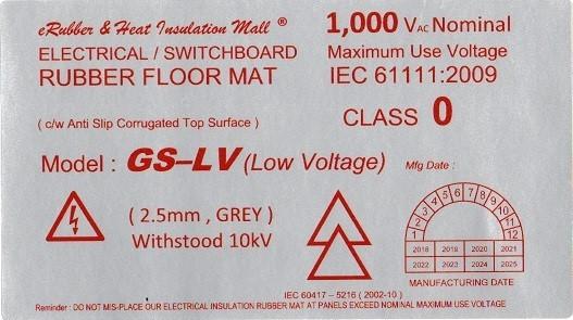 GS-LV 10kv Label Malaysia