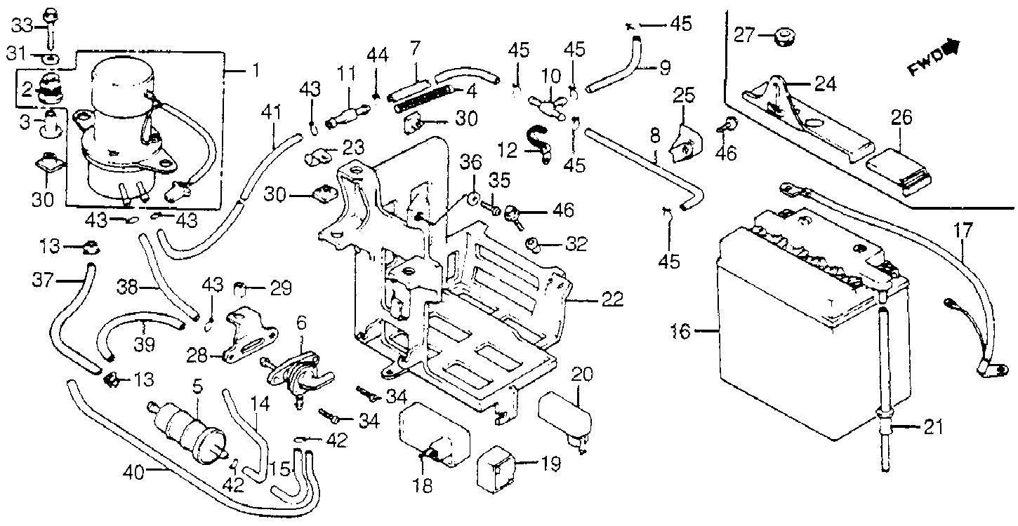 1983 honda v45 magna fuel pump diagram