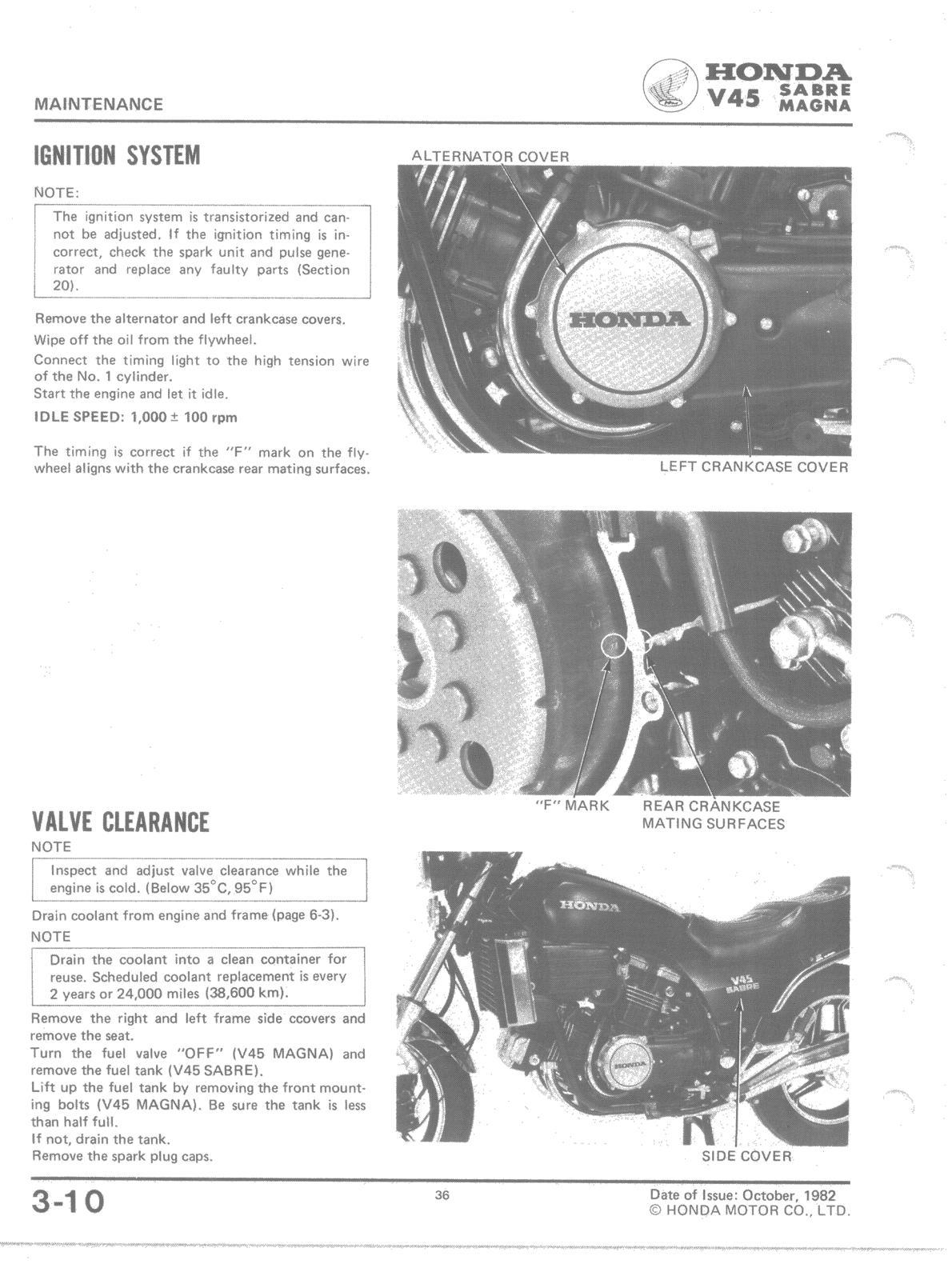 honda 350 fourtrax wiring diagram bass end ackwards    honda    v45 ignition valve clearance  bass end ackwards    honda    v45 ignition valve clearance