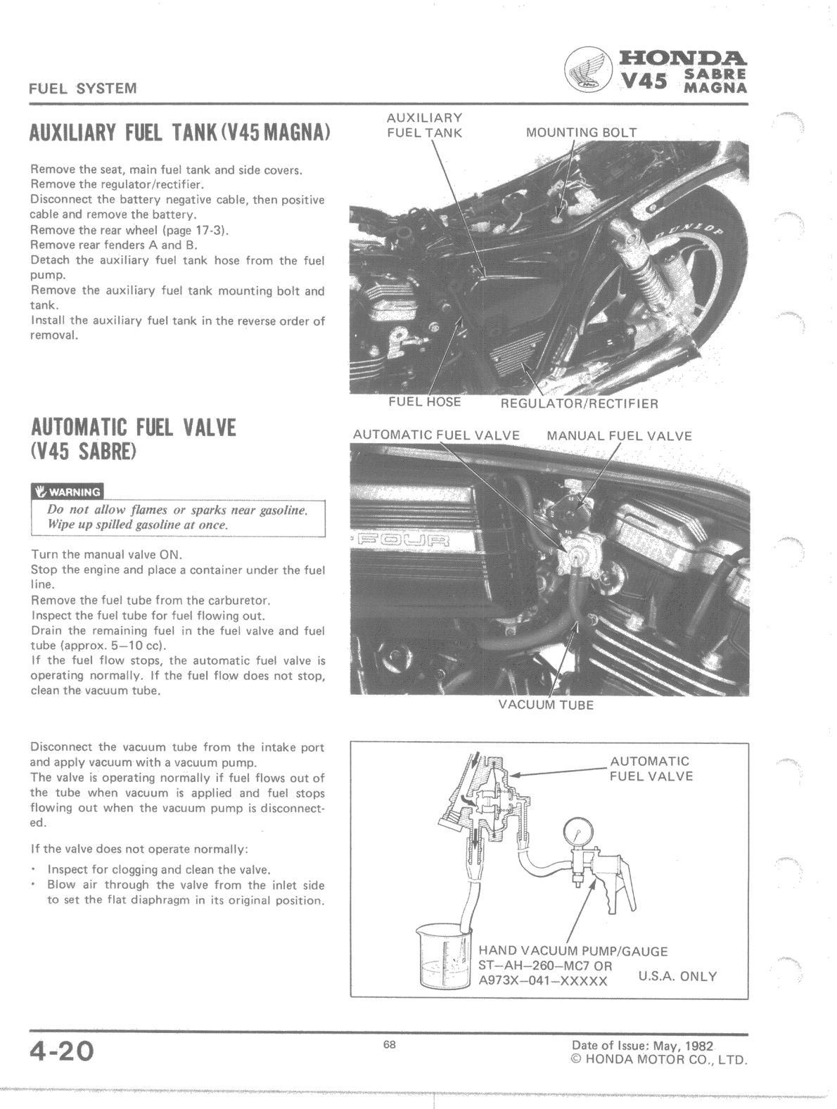 bass end ackwards honda v45 auxiliary fuel tank rh bassendackwards webstarts com 1982 honda v45 magna manual honda v65 magna owner's manual