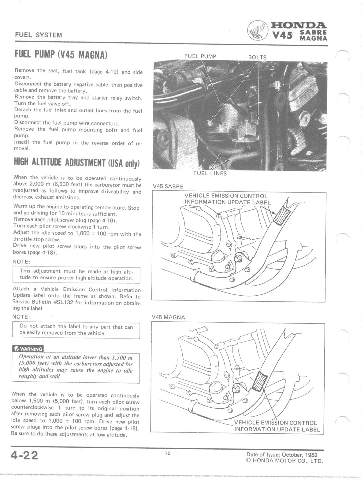 bassendackwards honda  fuel pump high altitude adjustment