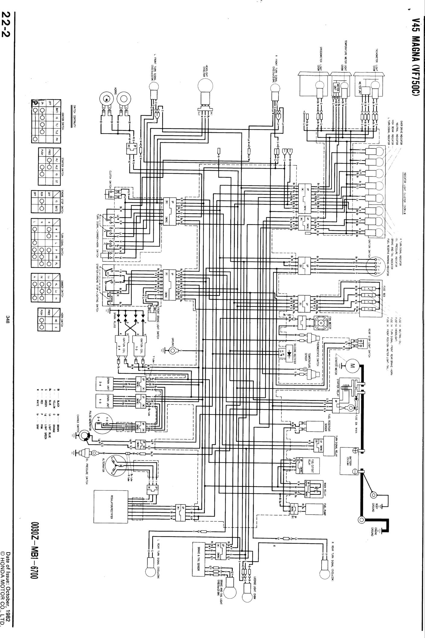On A 1986 Honda Nighthawk Wiring Diagram Library 1982 Ct70 Magna 1984 Bass End Ackwards