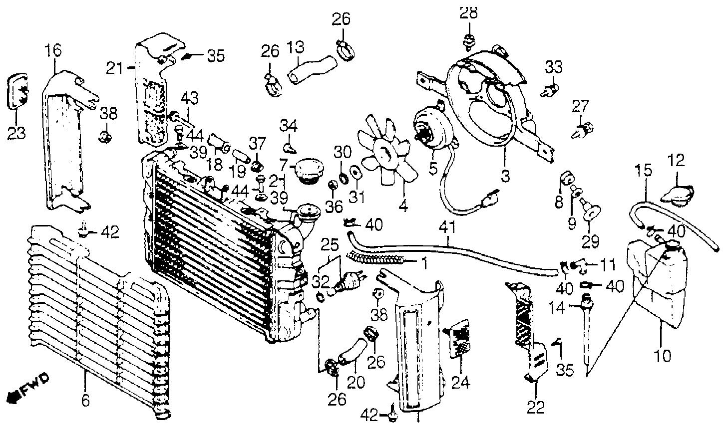 2003 Ford Focus Radiator Hose Diagram