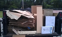 cardboard pick up and recycling