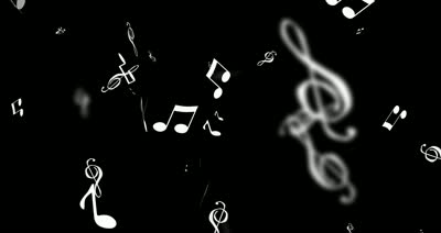 Black And White Music Notes Background white music notes on b...