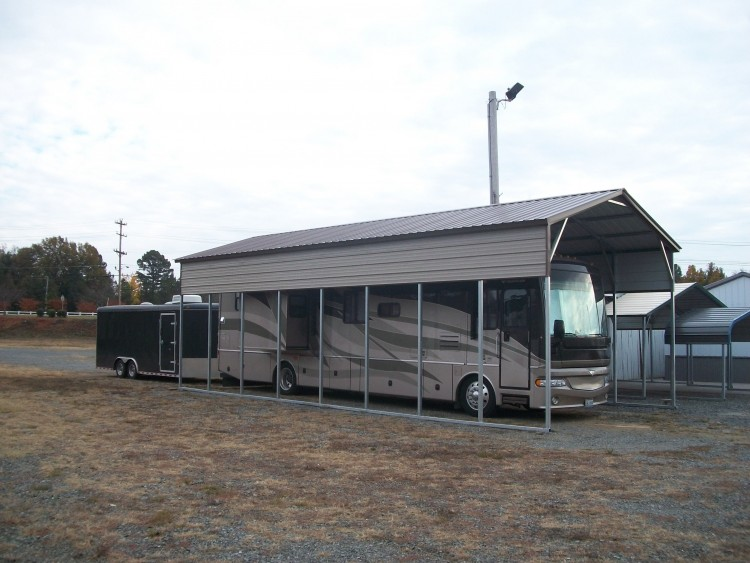Rv Steel Carports : Metal rv carports oregon or motor home covers