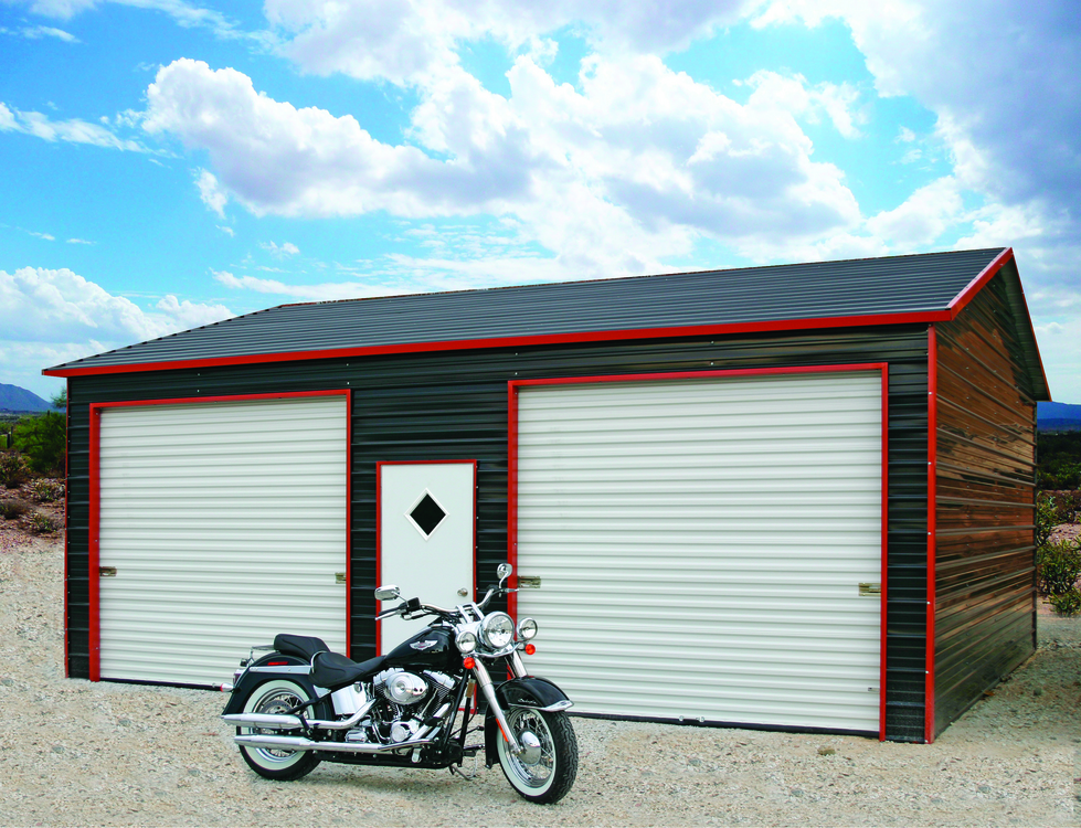 2 Car Metal Garage