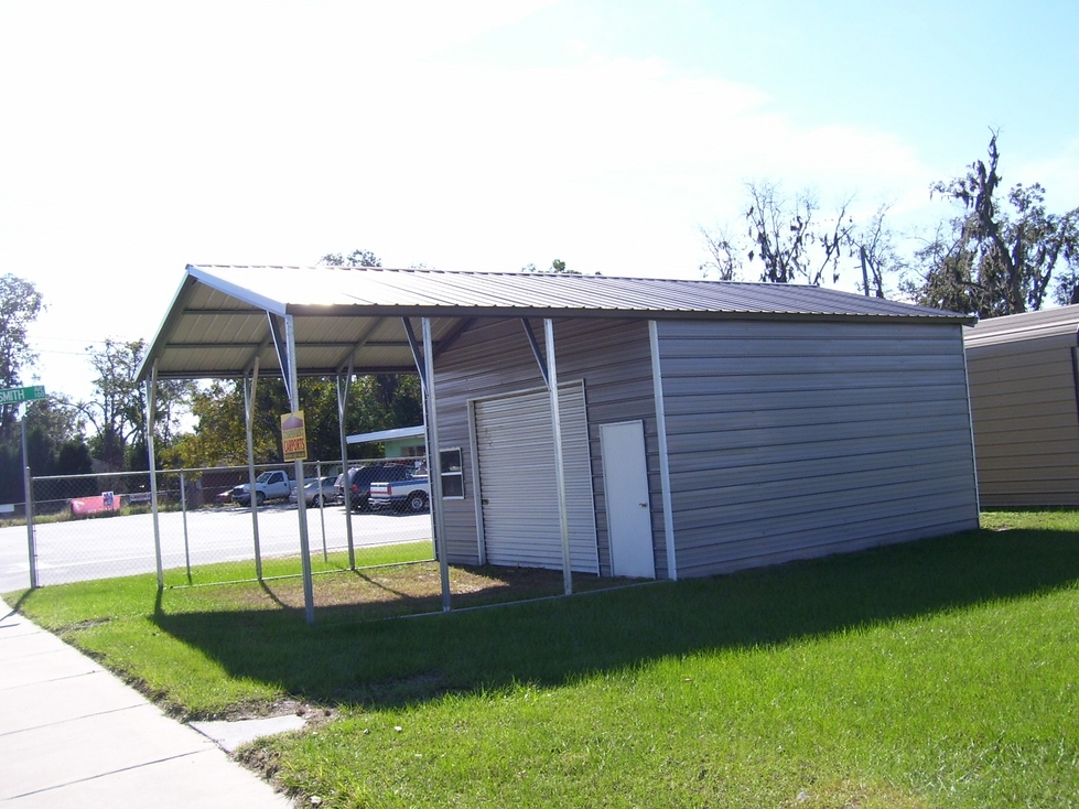 Vertical Roof Utility Carports