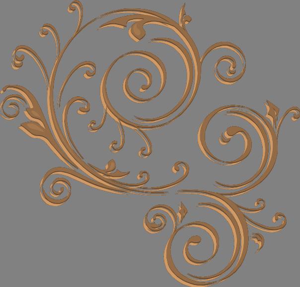 Gold swirl design
