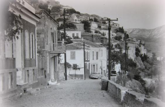 molivos main road on 1950's
