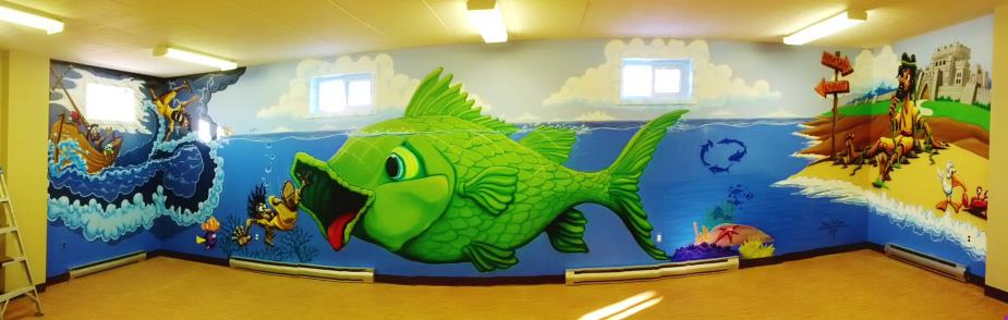 jerry s airbrush jonah and whale wall murals custom airbrushed mural the airbrush school