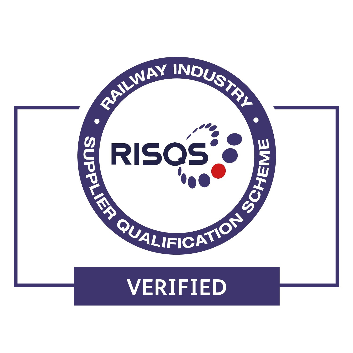 RISQS. VERIFIED STAMP
