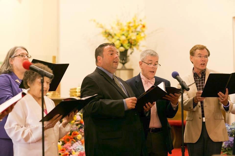 Chor group singing