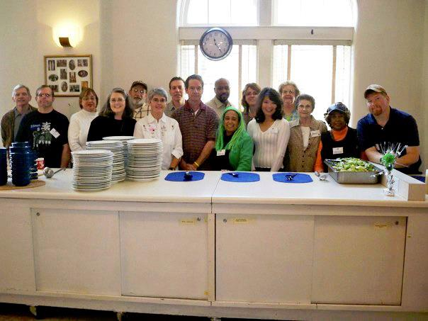 Dilworth Soup Kitchen volunteers at First Christian Church (Disciples of Christ) in East Charlotte, NC