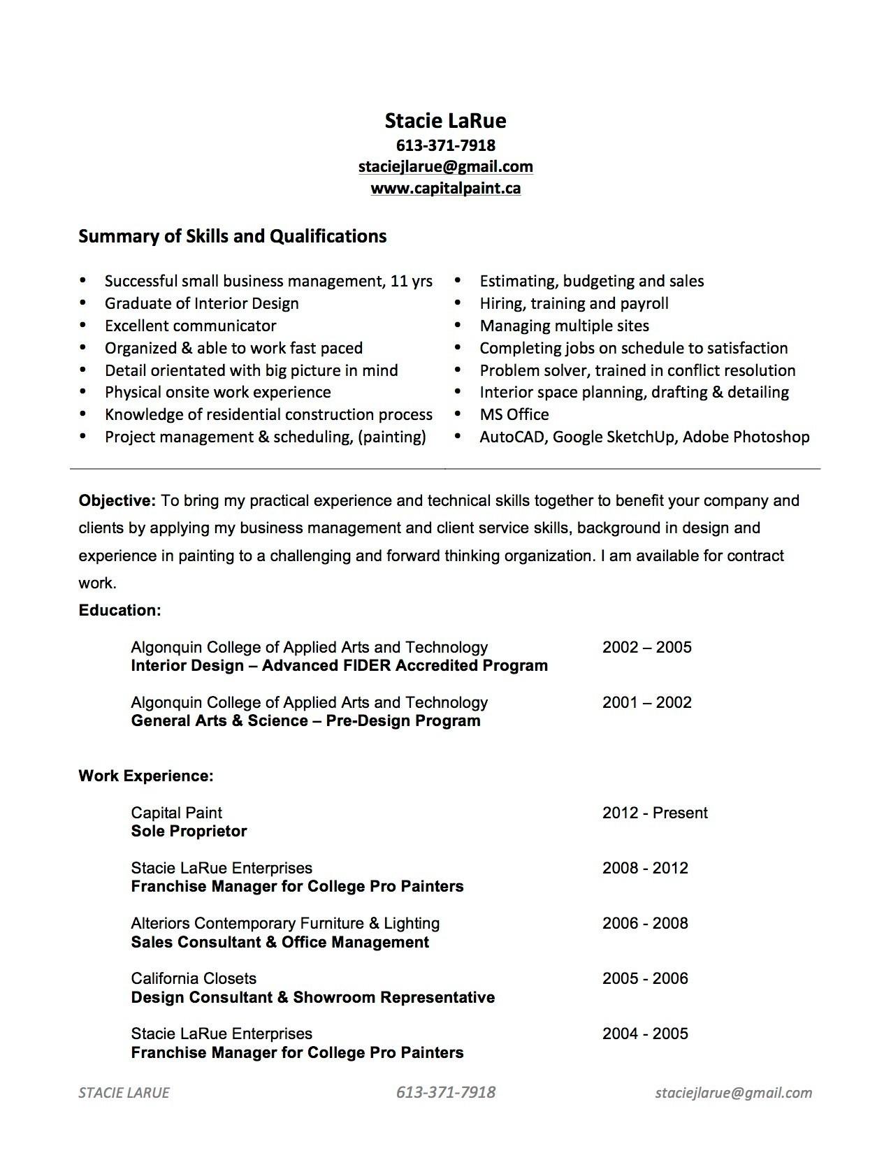 Charmant Algonquin College Lebenslauf Hilfe Ideen - Entry Level ...