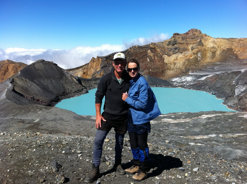 Mt Ruapehu summit, 1.5 hours drive to base from cottage