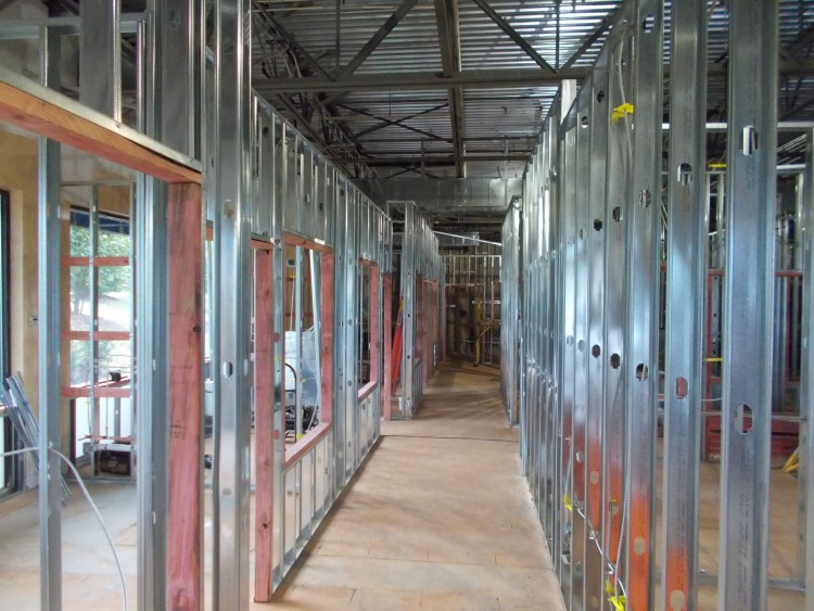 metal stud framing, Raleigh, Raleigh metal stud, Raleigh drywall contractor, commercial drywall Raleigh, Drop ceiling Raleigh, precision walls, sears contract, American Drywall, Capital Drywall