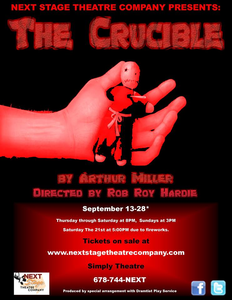 Arthur Miller's THE CRUCIBLE in Marietta 09/13 - 09/28