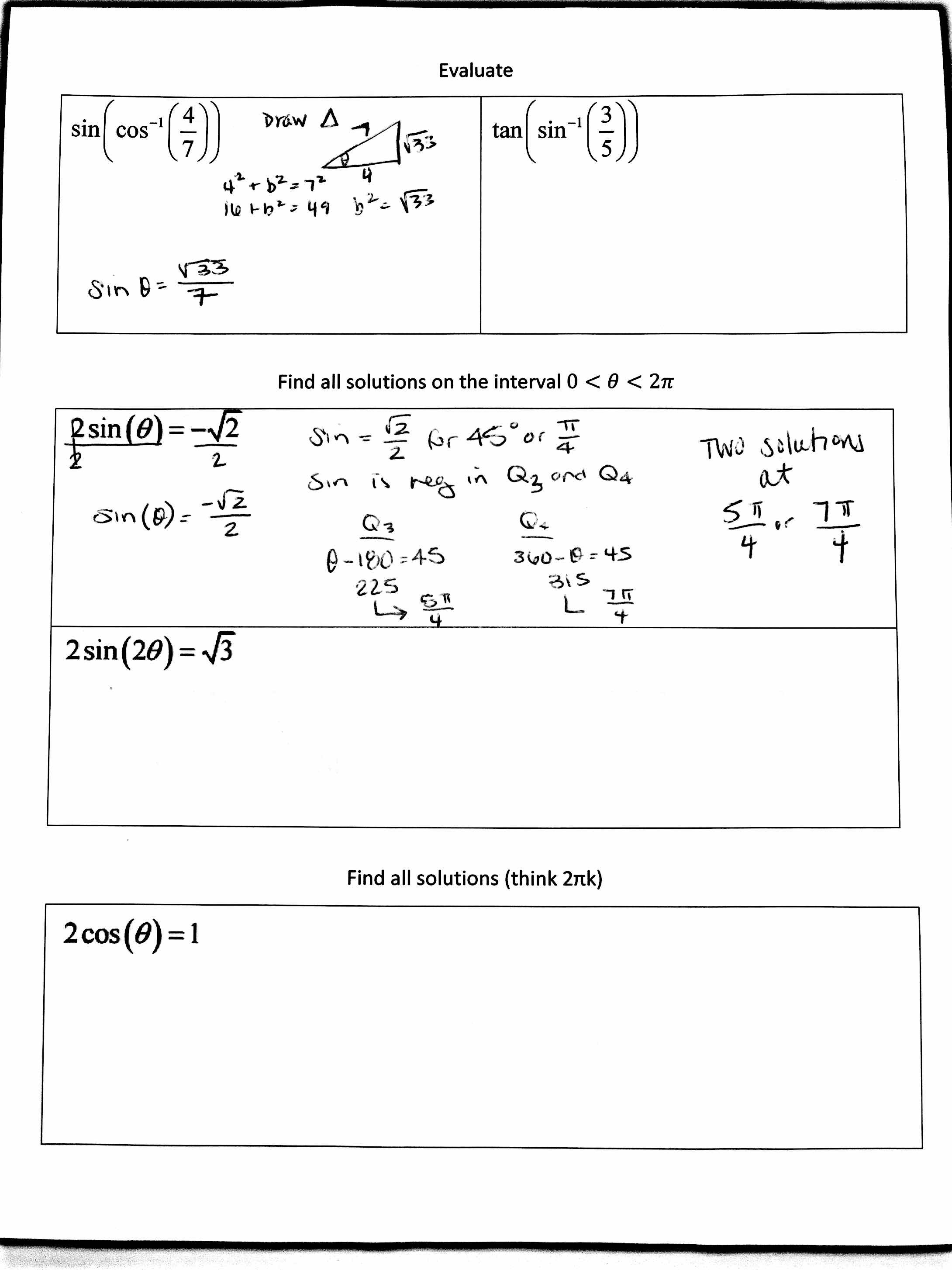 derivatives of inverse functions homework stu schwartz answers