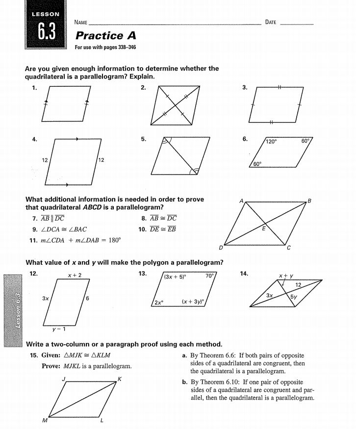 Homework Properties Of Parallelograms Worksheet Answers Creative