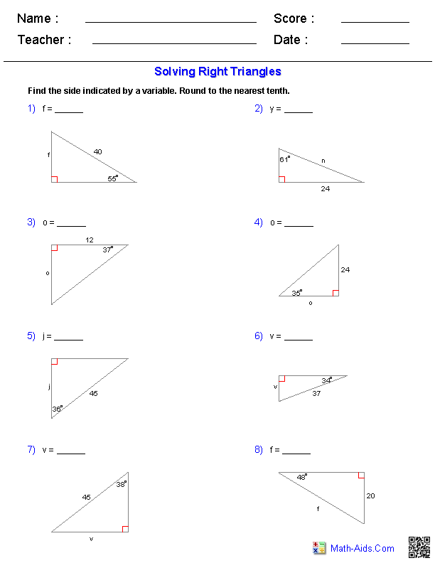 Special Right Triangles Worksheet: Special Right Triangle Worksheets   Rringband,