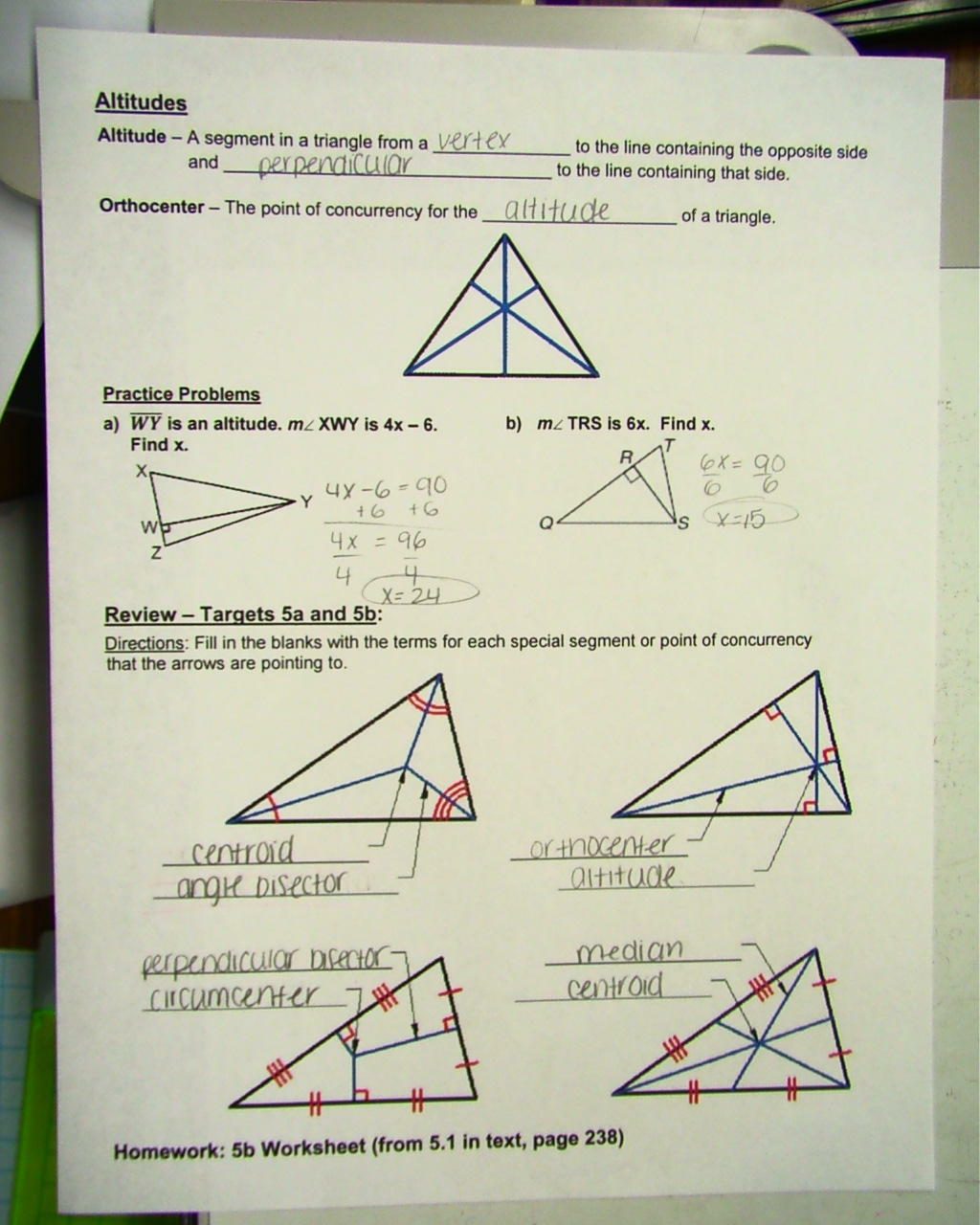 Geometry Points Of Concurrency Worksheet Answers - Ivuyteq Regarding Points Of Concurrency Worksheet Answers