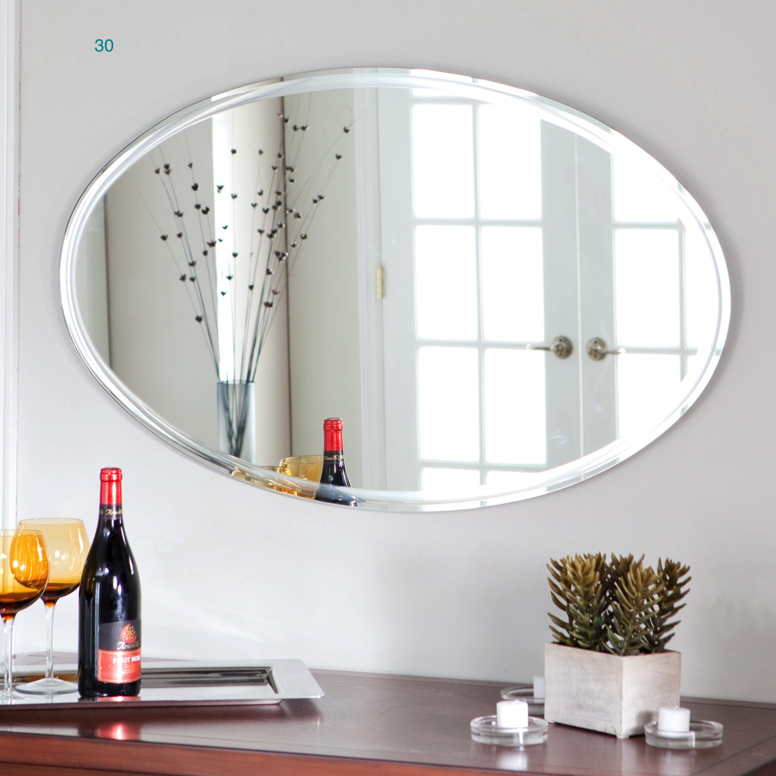 Bathroom Mirror Ideas Oval Shaped For The Vanity In Country Frames