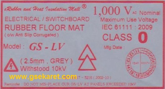 Switchboard Rubber Mat Indonesia