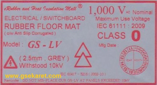 Low Voltage Insulation tikar karet Indonesia