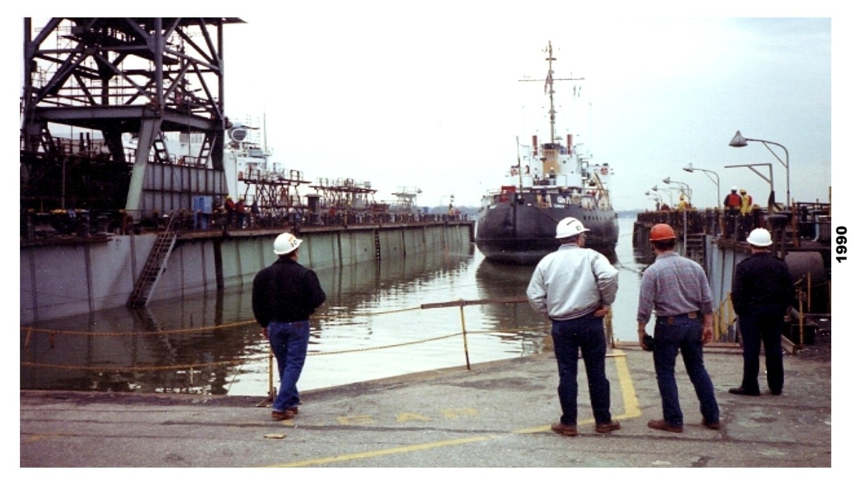 cgc cowslip in drydock feb 1990-