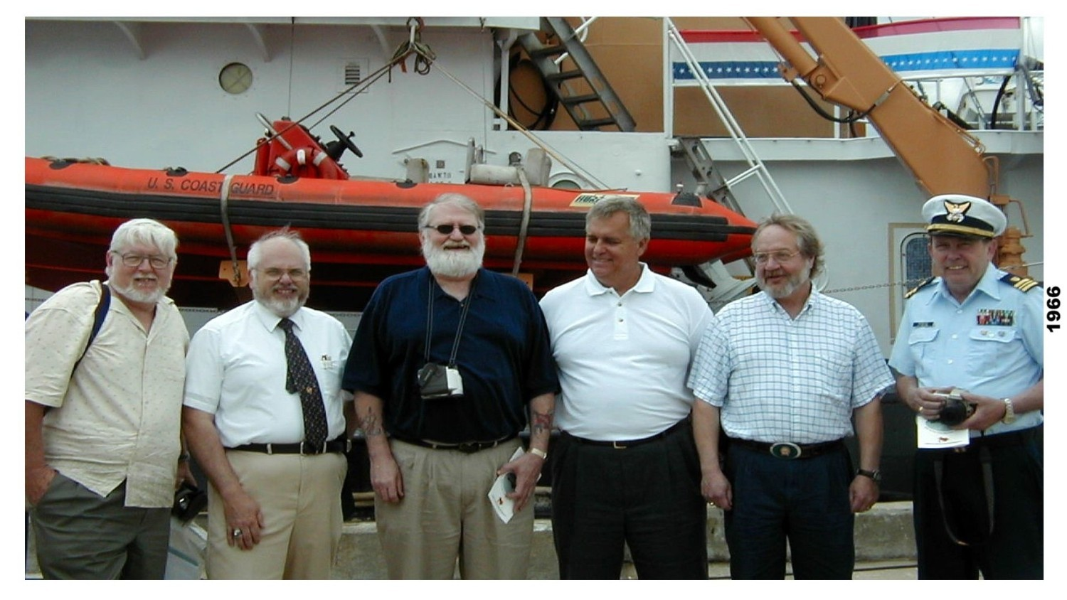 here is a photo from madrona s decomm several years ago  that is me second from the left the six of us served together aboard her in 66 68-